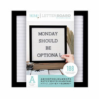 Die Cuts with a View - Letter Board - Black Frame with White - 12 x 12