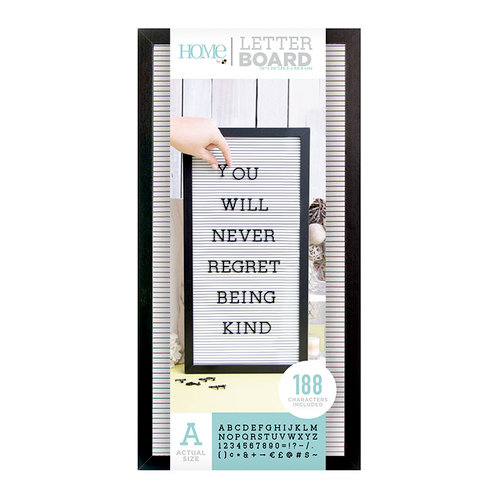 Die Cuts with a View - Letter Board - Black Frame with White - 10 x 20