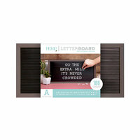 Die Cuts with a View - Letter Board - Silver Walnut Frame with Black - 20 x 10