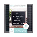 Die Cuts with a View - Letter Board - Silver Walnut Frame with Black - 16 x 16