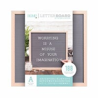 Die Cuts with a View - Letter Board - Oak Frame with Gray - 16 x 16