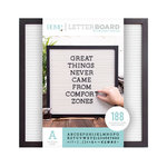 Die Cuts with a View - Letter Board - Black Frame with White - 16 x 16
