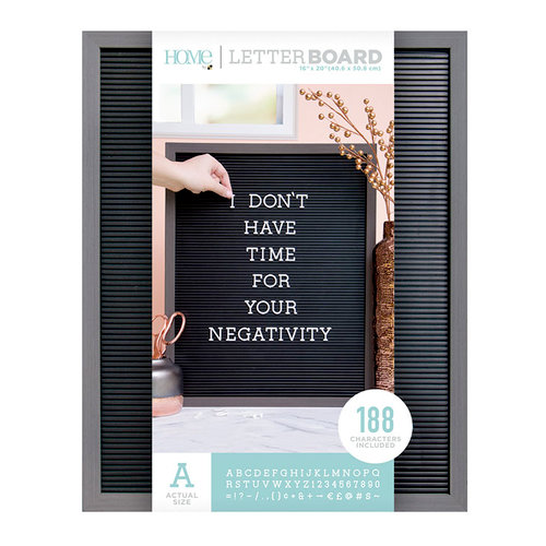 Die Cuts with a View - Letter Board - Silver Walnut Frame with Black - 16 x 20