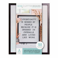 Die Cuts with a View - Letter Board - Black Frame with White - 16 x 20