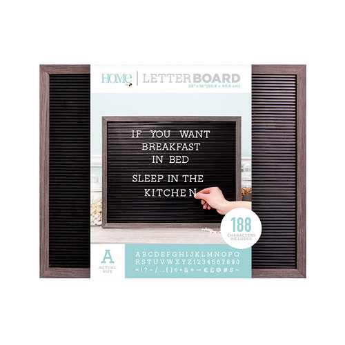 Die Cuts with a View - Letter Board - Silver Walnut Frame with Black - 20 x 16