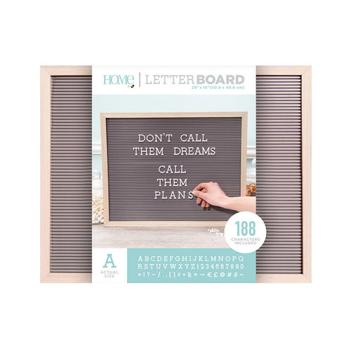 Die Cuts with a View - Letter Board - Oak Frame with Gray - 20 x 16