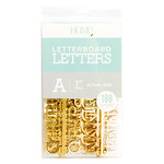 Die Cuts with a View - Letter Board - Letter Packs - 1 Inch - Gold