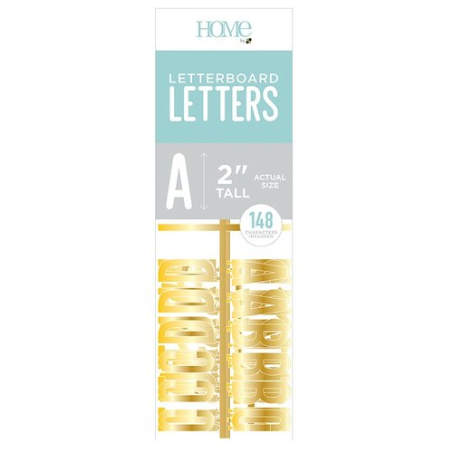 Die Cuts with a View - Letter Board - Letter Packs - 2 Inches - Gold