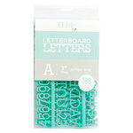Die Cuts with a View - Letter Board - Letter Packs - 1 Inch - Teal