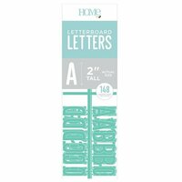 Die Cuts with a View - Letter Board - Letter Packs - 2 Inches - Teal