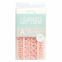 Die Cuts with a View - Letter Board - Letter Packs - 1 Inch - Pink