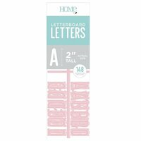Die Cuts with a View - Letter Board - Letter Packs - 2 Inches - Pink