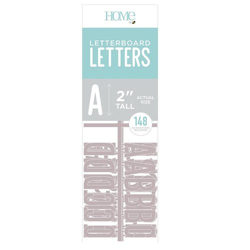 Die Cuts with a View - Letter Board - Letter Packs - 2 Inches - Gray