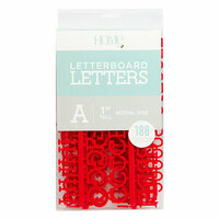 Die Cuts with a View - Letter Board - Letter Packs - 1 Inch - Red