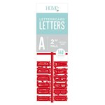 Die Cuts with a View - Letter Board - Letter Packs - 2 Inches - Red