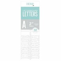 Die Cuts with a View - Letter Board - Letter Packs - 2 Inches - White