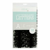 Die Cuts with a View - Letter Board - Letter Packs - 1 Inch - Black