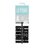Die Cuts with a View - Letter Board - Letter Packs - 2 Inches - Black