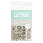 Die Cuts with a View - Letter Board - Letter Packs - 1 Inch - Silver