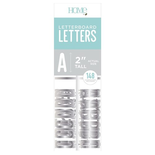 Die Cuts with a View - Letter Board - Letter Packs - 2 Inches - Silver