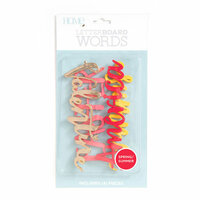 Die Cuts with a View - Letter Board - Word Packs - Spring and Summer