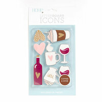 Die Cuts with a View - Letter Board - Icon Packs - Coffee and Wine