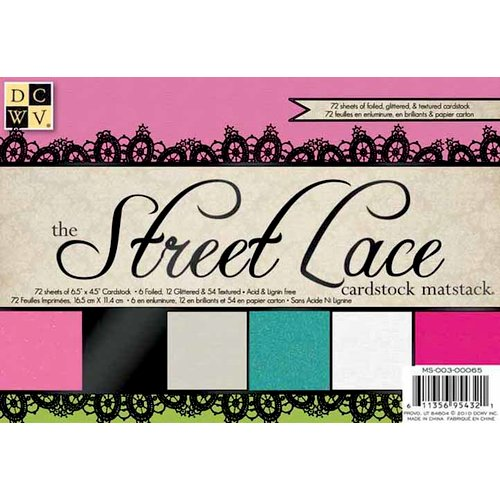 Die Cuts with a View - The Street Lace Collection - 4.5 x 6.5 Foil Glitter and Textured Solid Cardstock Matstack