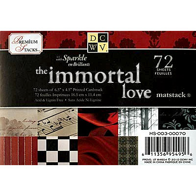 Die Cuts with a View - The Immortal Love Collection - 4.5 x 6.5 Glitter Cardstock Matstack