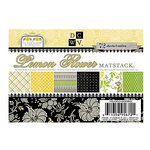 Die Cuts with a View - Lemon Flower Collection - 4.5 x 6.5 Glitter Cardstock Matstack