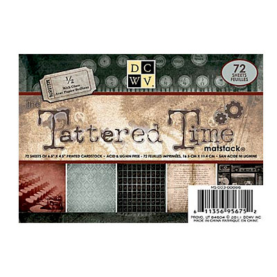 Die Cuts with a View - Tattered Time Collection - 4.5 x 6.5 Gloss Cardstock Matstack