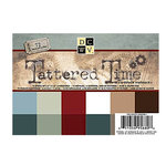 Die Cuts with a View - Tattered Time Collection - 4.5 x 6.5 Metallic Glitter and Textured Solid Cardstock Matstack