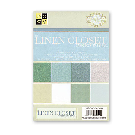 Die Cuts with a View - Linen Closet Collection - 4.5 x 6.5 Glitter and Metallic Solid Cardstock Matstack