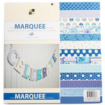 Die Cuts with a View - Marquee Collection - Glitter Paper Stack - 12 x 12