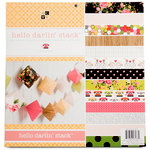 Die Cuts with a View - Hello Darlin Collection - Paper Stack - 12 x 12