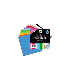 Die Cuts with a View - 3.8 x 3.8 Adhesive Matstack - Brights, CLEARANCE