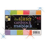 Die Cuts with a View - The Glitter Cardstock Matstack - 4.5x6.5 Solid Glitter Cardstock Pack