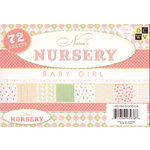 Die Cuts With A View - Nana's Nursery Baby Girl Collection - Glitter Paper Stack - 4.5x6.5