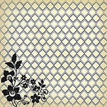 Die Cuts with a View - Le Creme Collection - 12X12 Black Flocked Paper - Diamond
