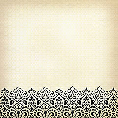 Die Cuts with a View - Le Creme Collection - 12X12 Black Flocked Paper - Bottom Edge