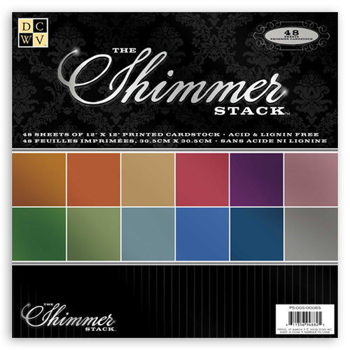 Die Cuts with a View - The Shimmer Collection - Cardstock Stack - 12 x 12