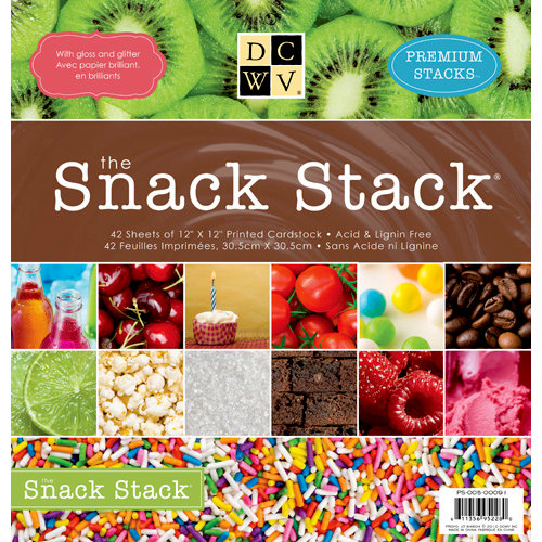 Die Cuts with a View - The Snack Stack - Glitter and Gloss Paper Stack - 12 x 12