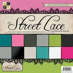 Die Cuts with a View - The Street Lace Collection - Foil Glitter and Textured Solid Cardstock Pack - 12 x 12