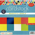 Die Cuts with a View - The Dots Stripes and Plaids Collection - Foil Glitter and Textured Solid Cardstock Pack - 12 x 12