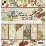 Die Cuts with a View - The Botanicals Collection - Glitter Paper Stack - 12 x 12