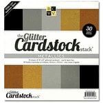 Die Cuts with a View - Glitter Paper Pack - Metallic - 12 x 12