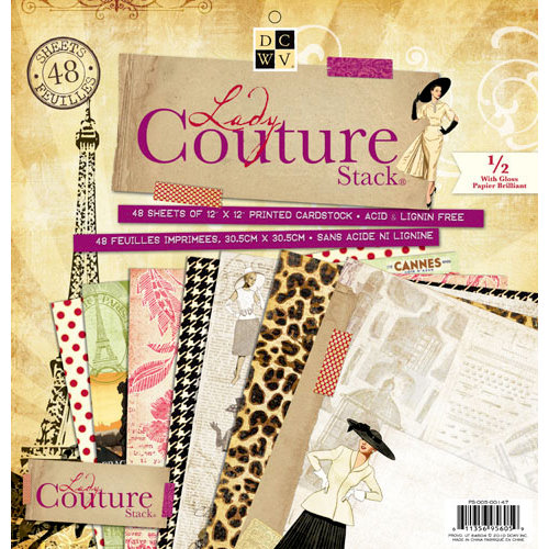 Die Cuts with a View - Lady Couture Collection - Gloss Paper Stack - 12 x 12