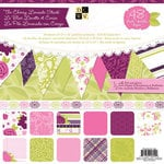Die Cuts with a View - Cherry Limeade Collection - Foil and Glitter Paper Stack - 12 x 12