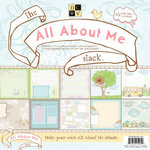 Die Cuts with a View - The All About Me Collection - Glitter Paper Stack - 12 x 12
