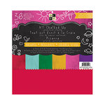 Die Cuts with a View - All Chalked Up Collection - Chalkboard Paper Stack - 12 x 12 - Brights