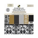 Die Cuts with a View - Glitzy Glitter Collection - Glitter Paper Stack - 12 x 12 - Neutrals